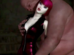 Massive 3d man fucks girl