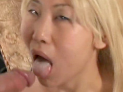 Blonde Asian laid in the asshole