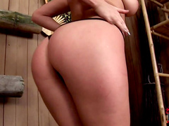 Aisha Sun sucks hot dick in the sauna