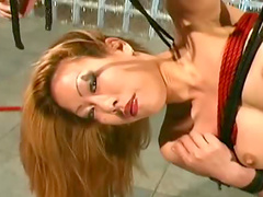 Extremely hot and daring babe is having fetish sex