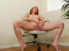 Solo masturbation scene by young and horny girlfriend