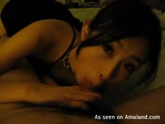Asian pussy filled with hot cum