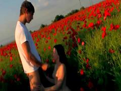 Field of flowers teen sex