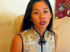 Asian in silk dress fucked hardcore