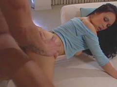 Cute oral Asian has sex with facial