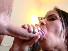 Brandy Aniston is swallowing giant cumshot