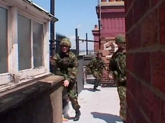 Hardcore sex during military occupation