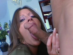 Liza Harper gives blowjob for Rick Masters