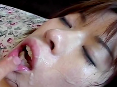 Babe with hairy pussy Yui Sarina is getting dick