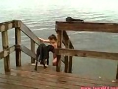 Big Titty Girlfriend Cocked On Dock