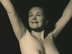 Retro undressing scene with sexy mom