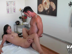 Oil massage turns him on for sex