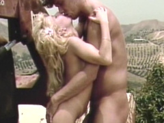 Curly-haired blonde was fucked in her perfect ass