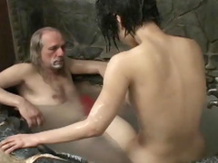 Making a mess of submissive Asian girl