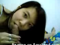 Asian cock polisher with sexy mouth