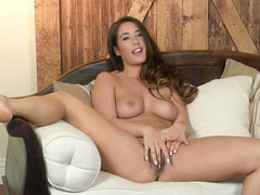 Brunette Eva Lovia loves fingering and stroking