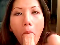 Dick looks good in her Asian mouth