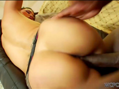 Busty babe Jessica Bangkok rides on black dick