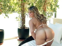 Mia Malkova is playing with her lovely puss