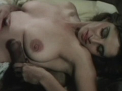 Goodly milf reaching orgasm while making a deep blowjob