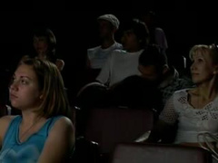 Cocksucking in a theater