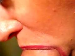 Up close sexy blowjob