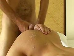 Nasty brunette shows off her cock-sucking skills