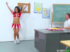 Great Asian cheerleader Cindy Starfall fucking in the classroom