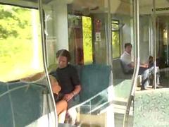 Cocksucker on a train