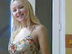 Anne shows her long kegs and dress