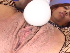 Jun Rukawa is playing with a hot dildo