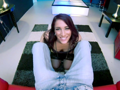 Beauty Mischa Brookes is swallowing some sperm