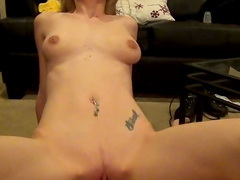 Amy Quinn is riding on the pretty big dick