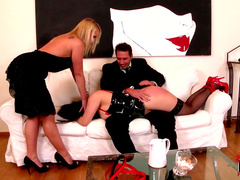 Kathia Nobili and Tigerr Benson is spanking their girlfriend