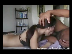 He likes the way Asian sucks his dick