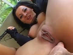 Asian Sandra Romain being fucked with hardcore force