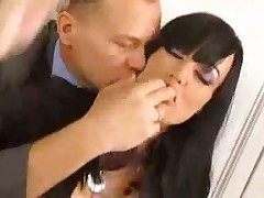 Euro Babe Watches her Boss Get Nailed