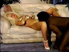 Blonde wife takes BBC and hubby cleans up