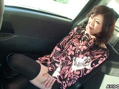 Masturbation in the car with Japanese Serika Kawamoto