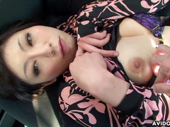 Masturbation in the car with Japanese Serika Kawamoto