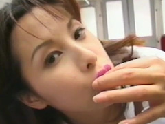 Sensual Asian is swallowing some cum