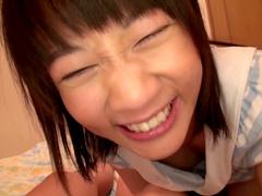 Amateur show with a horny Japanese teen