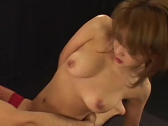 Perverted Asian is swallowing with innocent eyes