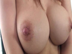 Japanese cutie shows off her natural boobies