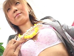 Japanese Sakurano is getting her nipples touched