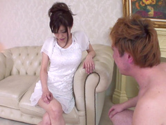 Miina Kanno being fucked in her shaved puss