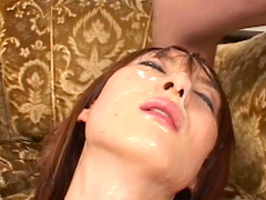 Asian brunette got an intense facial and fucked hard