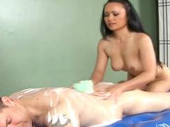 Asian chick Mya Luanna fucks in doggy style