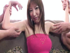 Slender Japanese chick is taking off her skirt
