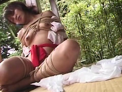 Small-tit Asian chick being humiliated